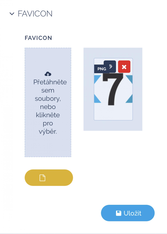 Změna favicon na webu